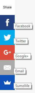 barra para compartir contenido de un sitio web